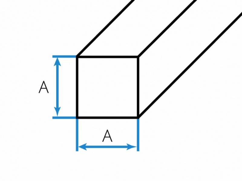 Hliníkovo - bronzové tyče štvorcové